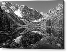 Parker Lake Black And White Acrylic Print by Scott McGuire