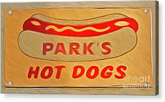 Park's Hot Dogs Acrylic Print by Gregory Dyer