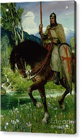 Parsifal In Quest Of The Holy Grail Acrylic Print by Ferdinand Leeke