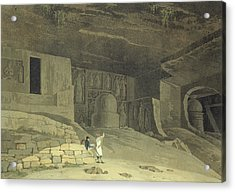 Part Of The Kanaree Caves, Salsette Acrylic Print by Thomas & William Daniell