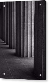 Black And White Columns Acrylic Print by Dan Sproul