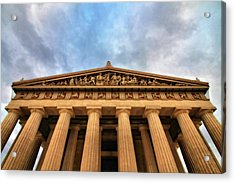 Parthenon From Below Acrylic Print by Dan Sproul