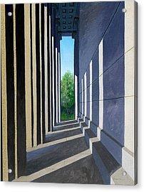 Parthenon Shadows Acrylic Print by Dillard Adams