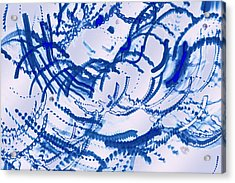 Particles Of Blue Acrylic Print by Kellice Swaggerty