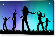 Party People Acrylic Print by Aged Pixel