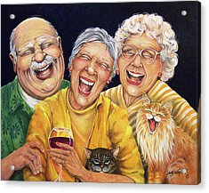Party Pooper Acrylic Print by Shelly Wilkerson