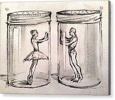Pas De Deux Acrylic Print by H James Hoff