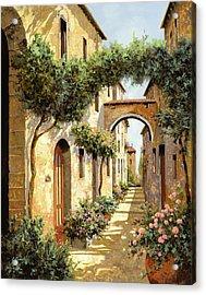 Passando Sotto L'arco Acrylic Print by Guido Borelli