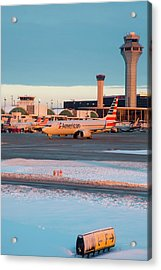 Passenger Airliner Taxiing Acrylic Print by Jim West