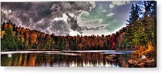 Passing Storm Over Cary Lake Acrylic Print by David Patterson