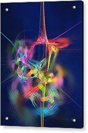 Passion Nectar - Circling The Flower Of Paradise Acrylic Print by Menega Sabidussi