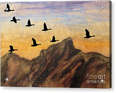 Past The Peaks Acrylic Print by R Kyllo
