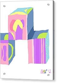 Pastel Cubes Acrylic Print by Anita Dale Livaditis