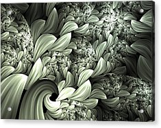 Pastel Garden Abstract Acrylic Print by Georgiana Romanovna