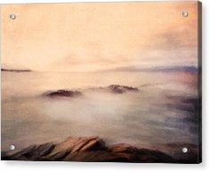 Pastel Soft Waters  Acrylic Print by Georgiana Romanovna