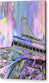Pastel Tower Acrylic Print by Az Jackson