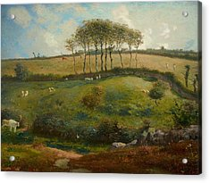 Pasture Near Cherbourg Acrylic Print by Jean-Francois Millet