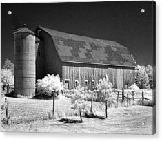 Patchwork Roof Barn Acrylic Print by Stephen Mack