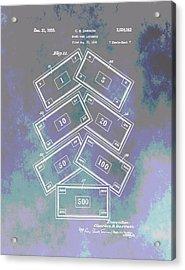 Patent Art Money Acrylic Print by Dan Sproul