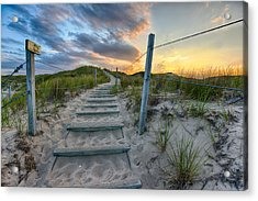 Path Over The Dunes Acrylic Print by Sebastian Musial