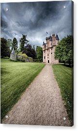 Path To Craigievar Castle Acrylic Print by Dave Bowman