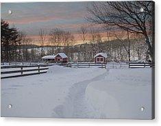 Path To The Barn Acrylic Print by Fran J Scott