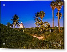 Pathway To The Beach Acrylic Print by Rene Triay Photography