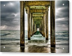 Pathway To The Light Acrylic Print by Aron Kearney