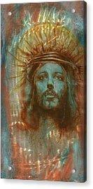 Patina Christ Acrylic Print by Luis  Navarro