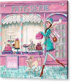 Patisserie Acrylic Print by Caroline Bonne-Muller