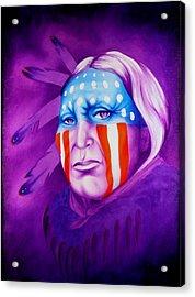 Patriot Acrylic Print by Robert Martinez
