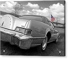 Patriotic Lincoln Continental 1976 Acrylic Print by Gill Billington