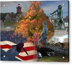 Patriotic Massachusetts Acrylic Print by Jeff Folger