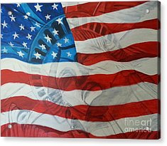 Patriotic Acrylic Print by Michelley Fletcher