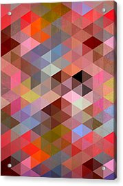 Pattern Of Triangle Acrylic Print by Mark Ashkenazi