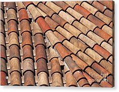 Patterned Tiles Acrylic Print by Bob Phillips