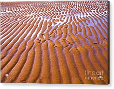 Patterns In The Sand Acrylic Print by Diane Diederich