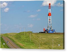 Patterson Uti Oil Drilling Rig Acrylic Print by David R. Frazier