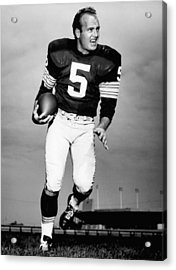 Paul Hornung Poster Acrylic Print by Gianfranco Weiss