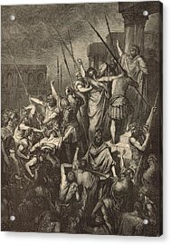 Paul Menaced By The Jews Acrylic Print by Antique Engravings