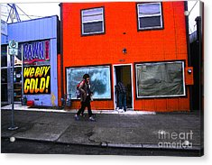 Acrylic Print featuring the photograph Pdx Street  by Carl Warren