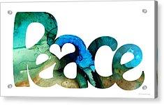 Peace Full 13 Acrylic Print by Sharon Cummings