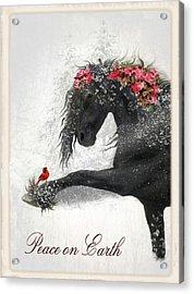 Peace On Earth Acrylic Print by Fran J Scott