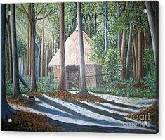 Peaceful Abode Acrylic Print by Usha Rai