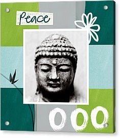 Peaceful Buddha- Zen Art Acrylic Print by Linda Woods