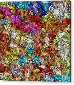 Peaceful Flowers  Acrylic Print by George Curington