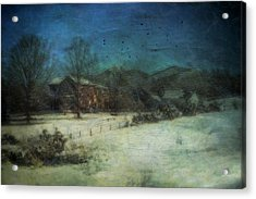 Peaceful In The Country Acrylic Print by Kathy Jennings