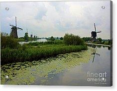 Peaceful Kinderdijk Acrylic Print by Carol Groenen
