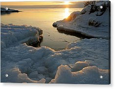Peaceful Moment On Lake Superior Acrylic Print by Sandra Updyke