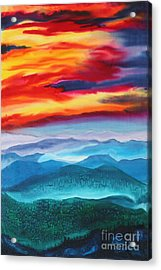 Peaceful Valley's Acrylic Print by Anderson R Moore